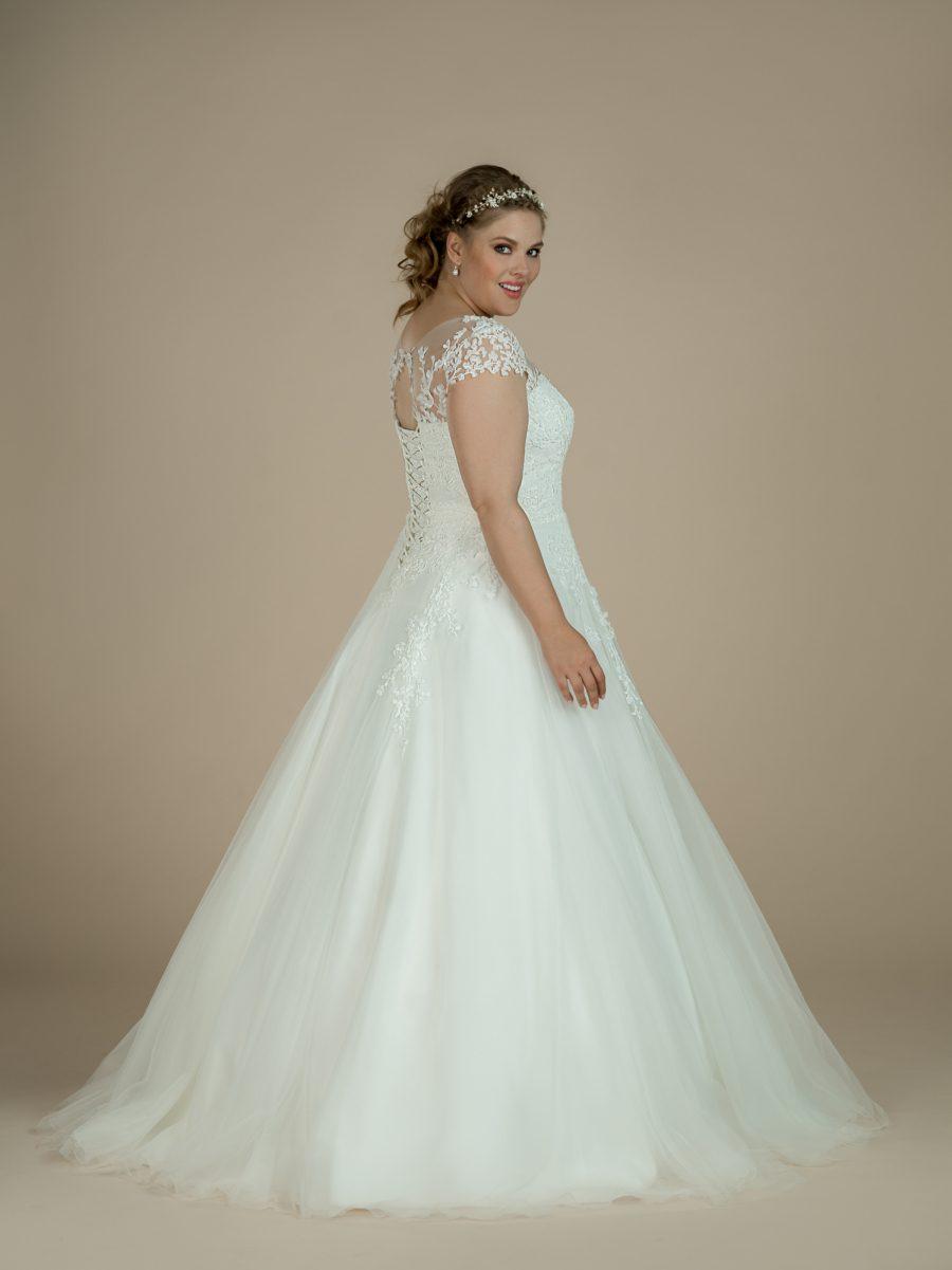 Krajkované svatební plus size šaty